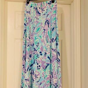 EUC Lilly Pulitzer M NOLA maxi skirt